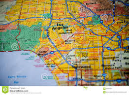 Maps Los Angeles by Map Of Los Angeles Royalty Free Stock Photography Image 5400247