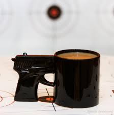 pistol grip coffee cups and mugs funny gun mug milk tea cup