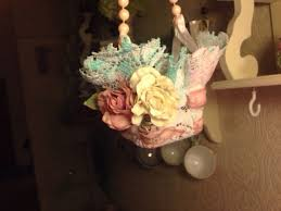 shabby chic flowers shabby chic flower girl basket or shabby chic decor made with