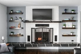 bold design fireplace side shelves nice ideas fireplaces with