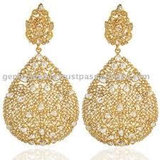 18k gold earrings 18k gold jewelry diamond ethnic jewelry cut diamond gol