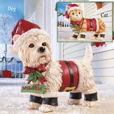 lighted dog christmas lawn ornament motion sensor pet christmas yard decoration from collections etc