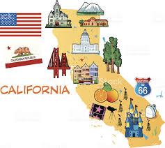 California City Map Cartoon Map Of California Stock Vector Art 454273679 Istock