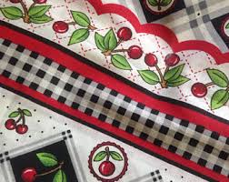 Cherry Kitchen Curtains by Thanks To My Awesome Mom This Is My Kitchen Curtain Fabric And I