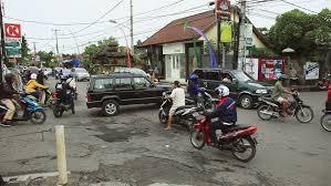 bali indonesia 21 dec 2010 bali indonesia crowded road traffic in
