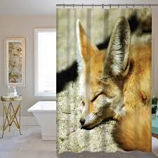 fox home decor the fashion fox theme waterproof fabric home decor shower curtain