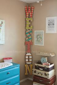 decor pictures hanging vertical kid u0027s name in the corner just decorate letters