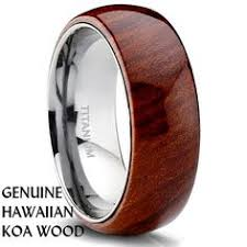 mens wooden wedding bands titanium koa wood ring 6mm woods weddings and ring