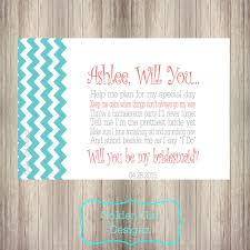 will you be my bridesmaid poems chevron will you be my bridesmaid card bridesmaid poem