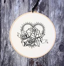 almighty embroidery hoop art home decor gift framed