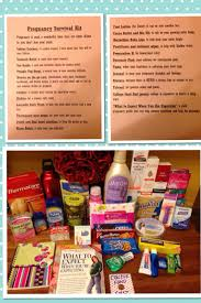 pregnancy gift ideas pregnancy survival kit for a new to be baby