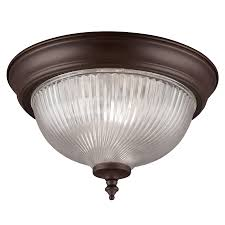 Lowes Light Fixtures Ceiling by Shop Project Source 11 In W Painted Oil Rubbed Bronze Flush Mount