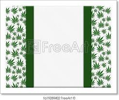 leaf ribbon free print of marijuana leaves frame with ribbon background
