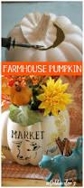 farmhouse pumpkin centerpiece idea debbiedoos