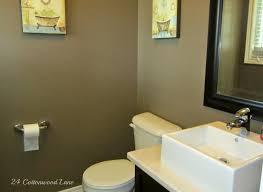 Navy And Green Bathroom Navy Powder Room Reveal