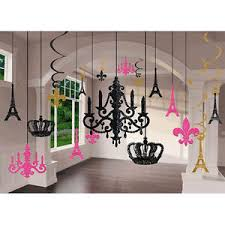 Party Chandelier Decoration Day In Paris Glitter Chandelier Decoration Kit Wedding U0026 Birthday