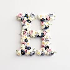 lettre decorative pour chambre b fleur lettre décor de crèche bébé fille chambre d enfant décor