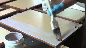 Refinishing Melamine Kitchen Cabinets by How To Use Chalk Paint On Cabinet Faces Youtube