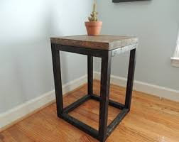 distressed wood end table coffee end tables etsy