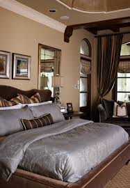 Grey And Brown Bedroom by Awesome Brown Bed And Grey Quilt In The Eclectic Decorating Ideas