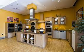 Yellow Kitchen Cabinet by Kitchen Banana Yellow Custom Kitchen Alongside Wheat Doff Wood
