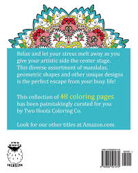 Designs Coloring Book Designs Two Hoots Coloring 9780692591079