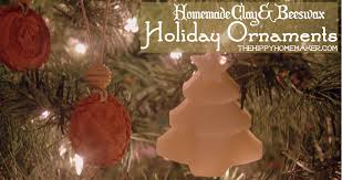 homemade clay u0026 beeswax holiday ornaments the hippy homemaker