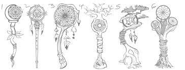 seven dragon sanctuary dreamcatcher staff rough sketches