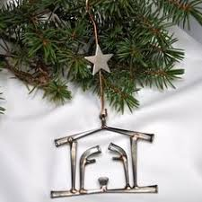welded nail tree ornament welding projects simple