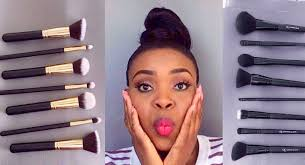 affordable makeup artist affordable 10 00 makeup brushes set review demo