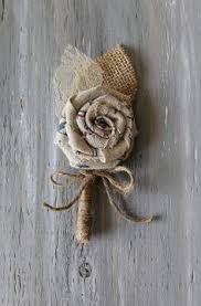 burlap boutonniere burlap boutonniere for the groomsmen to match the bridal party