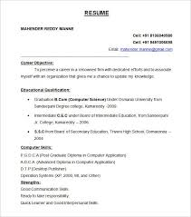resume format for internship in india mechanical engineering