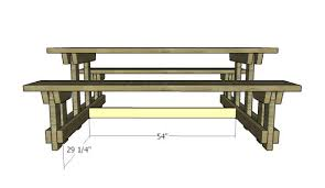 Wooden Picnic Tables With Separate Benches Picnic Table With Detached Benches Plans Myoutdoorplans Free