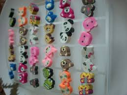 plastic stud earrings animal panda stud earrings with plastic jewelry display
