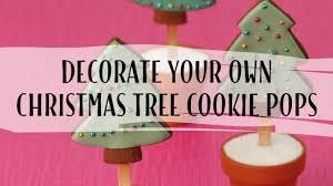 decorating christmas tree cookie pops tessa whitehouse youtube