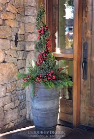 Christmas Decorations For Outdoor Containers by 217 Best Christmas Outdoor Containers Images On Pinterest