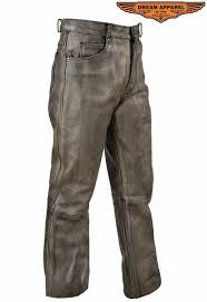 leather motorcycle pants men s distressed genuine cowhide brown leather motorcycle