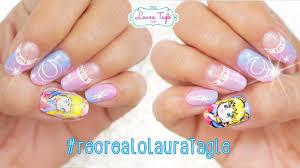 haz stickers de uñas con la impresora de tu casa sailor moon nail