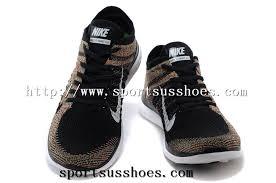 Most Comfortable Nike Mens Nike Free 4 0 Flyknit Running Shoes Brown Black 01 Jpg