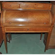 bureau acajou bureau à cylindre ancien en acajou et filets de marqueterie
