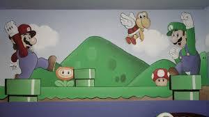 super mario bros nursery mural artwork of aaron smith super mario bros nursery mural