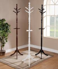 furniture wooden standing coat rack with black hanger