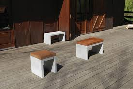 concrete and wood outdoor table contemporary bench and table set concrete outdoor garden