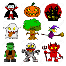 halloween character clipart collection