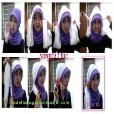 tutorial jilbab segi 4 untuk kebaya gambar tutorial jilbab segi empat untuk kebaya