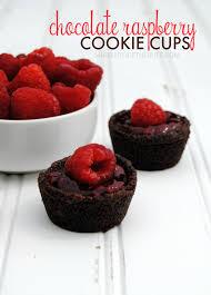 chocolate raspberry cookie cups