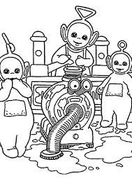 teletubbies coloring pages cleaning kids printable free