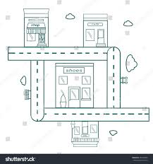 roads map coloring page kids cityscape stock vector 404735086
