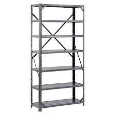 shop edsal 60 in h x 30 in w x 12 in d 7 tier steel freestanding