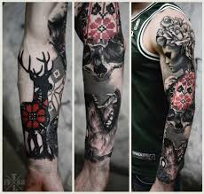 amazing skull tattoos freakin amazing sleeve by timur lysenko tattoos and trends